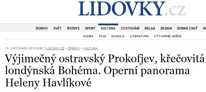 RECENZE Ohnivý anděl, Lidové noviny, 10.11.2015