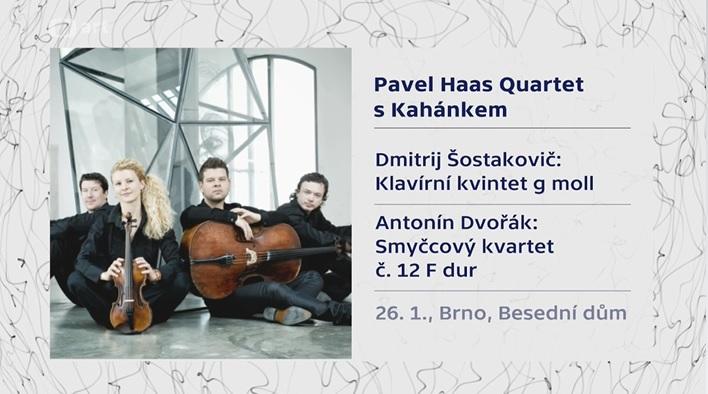 Ivo Kahánek a Pavel Haas Quartet: Galakoncert pro Concentus Moraviae