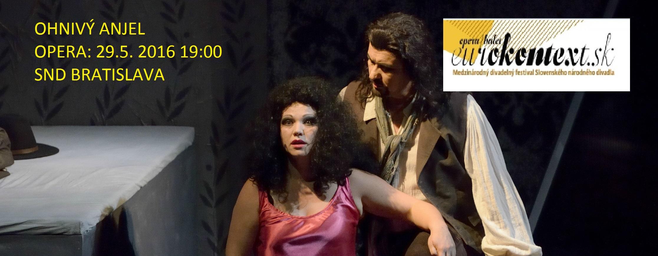 Ohnivý anděl přiletí do Bratislavy: Martin Bárta v unikátní opeře Sergeje Prokofjeva na Eurokontextu