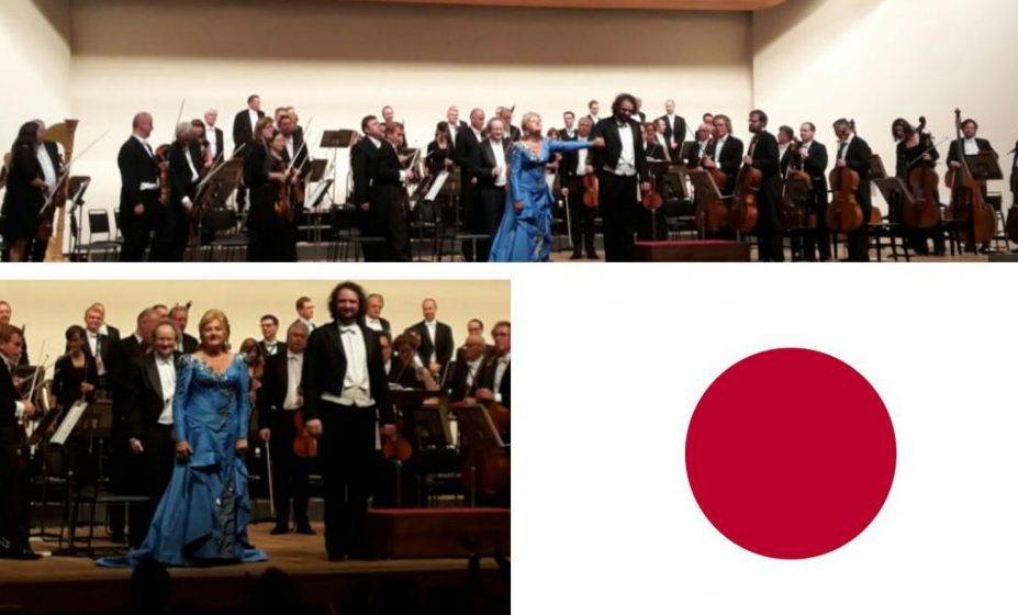 Conductor Peter Valentovič and Edita Gruberová: together with the Prague State Opera on tour in Japan