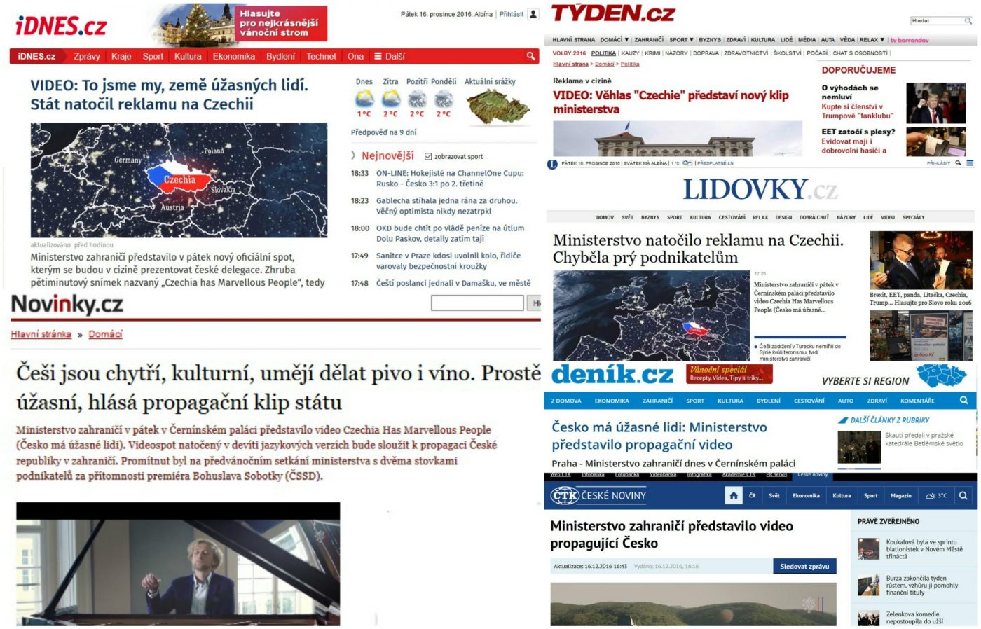 Ivo Kahánek hlavní hvězdou oficiálního klipu propagujícího Česko ve světě
