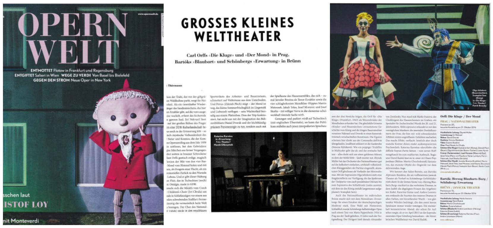 Olga Jelínková v recenzi Opernweltu coby Chytračka!