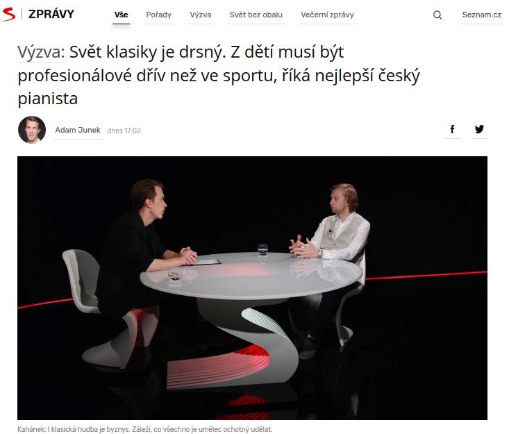 VIDEOROZHOVOR: Ivo Kahánek ve Výzvě Seznamu